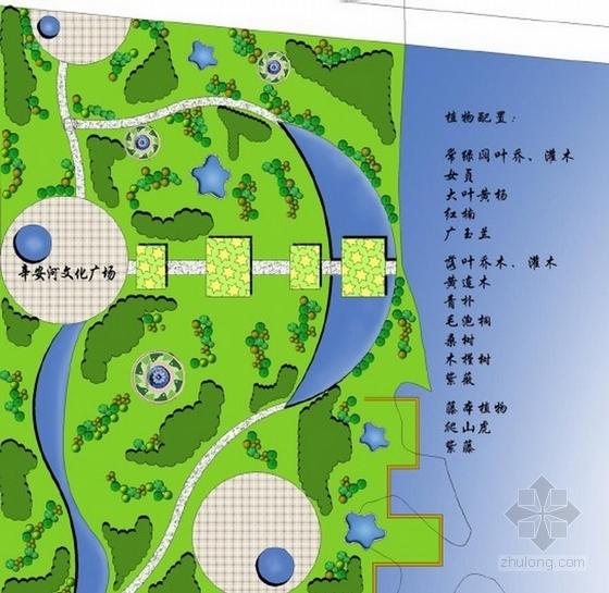 文化广场景观节点平面图
