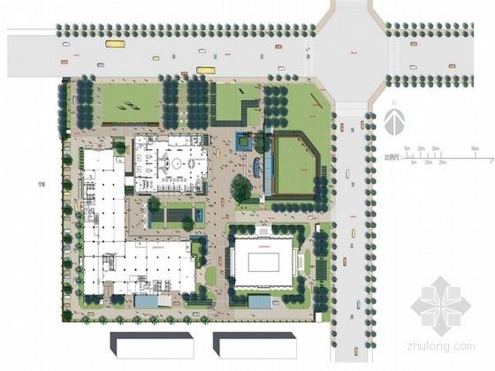 [四川]办公区绿地园林景观规划设计方案