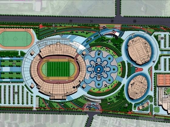 """[辽宁]""""浪花的艺术""""滨海体育中心景观设计方案"""