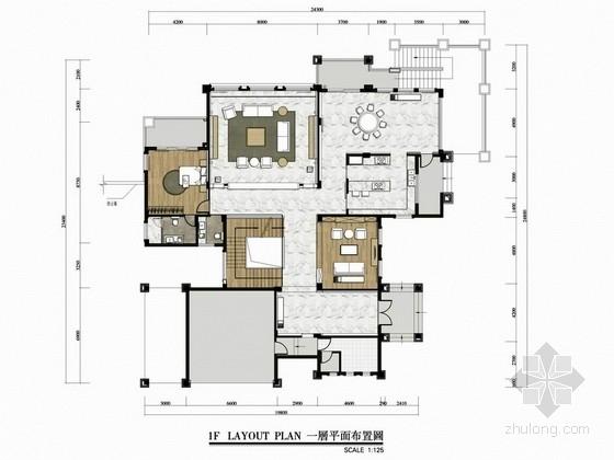 [台山]临湖花园度假区现代风格三层别墅设计方案