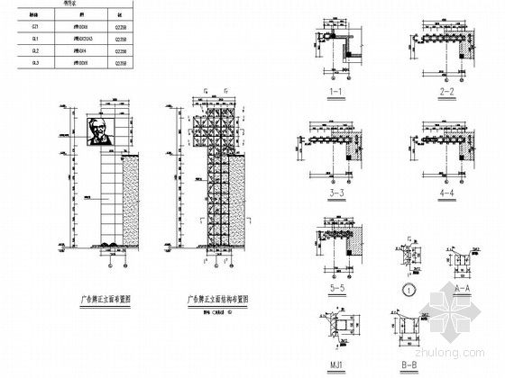 KFC(肯德基)广告牌钢结构施工图
