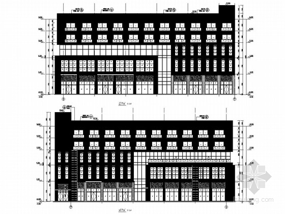 五层框架结构垃圾焚烧厂综合楼结构图(含建筑图)