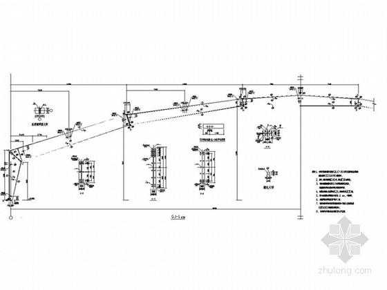 单跨70米门式钢架图