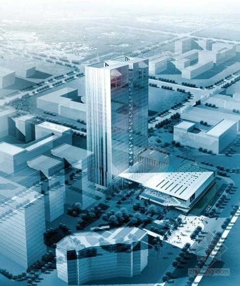 [深圳]高层开放框架式科研大厦建筑设计方案文本