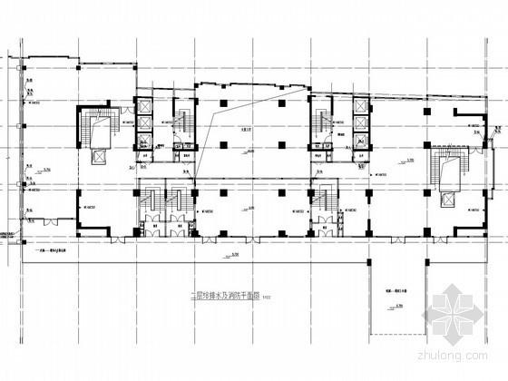 [河南]一类高层公共建筑给排水消防施工图(高压细水雾灭火)