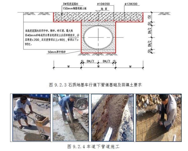 管道基础及回填土要求