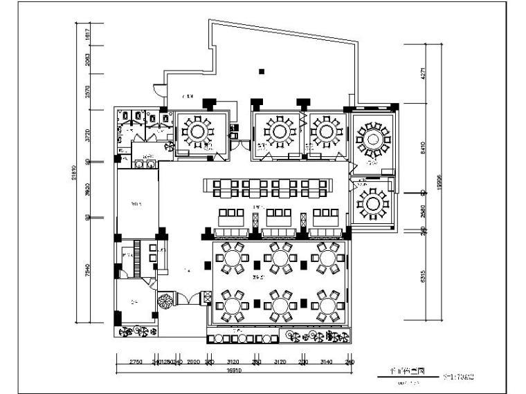 全套完整的海鲜主题餐厅设计施工图