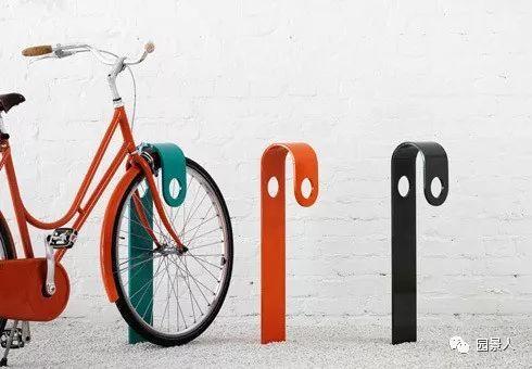 自行车停放架这样设计才有趣