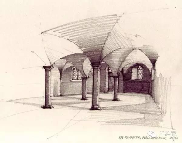百年经典建筑设计手绘图_36