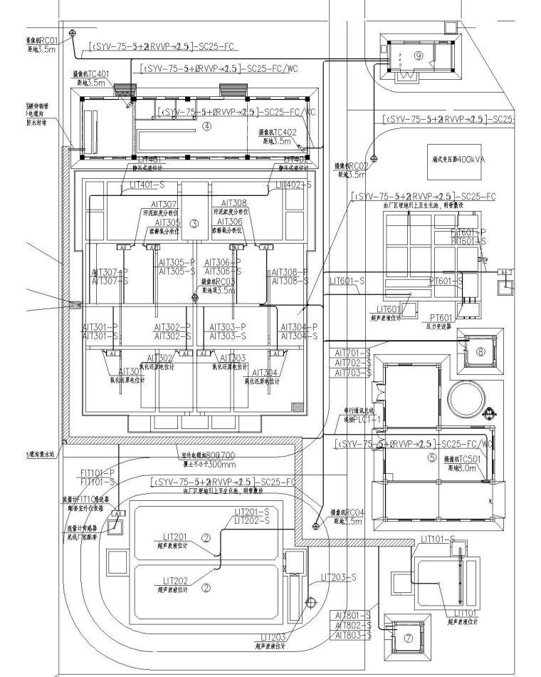 某4000方MBR工艺水厂电气施工图