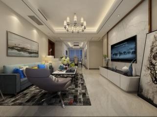 扬州君悦华府108平方米3居室现代风格《静》