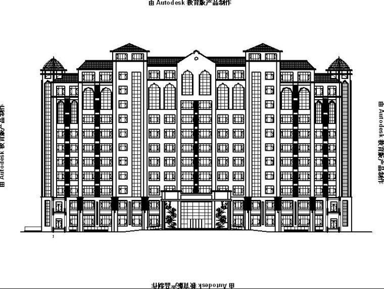 [宁夏]高层坡屋顶剪力墙结构老年公寓建筑施工图(含效果图)