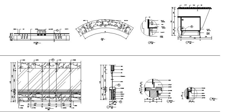 办公空间现代服务台施工图详图(共20套)