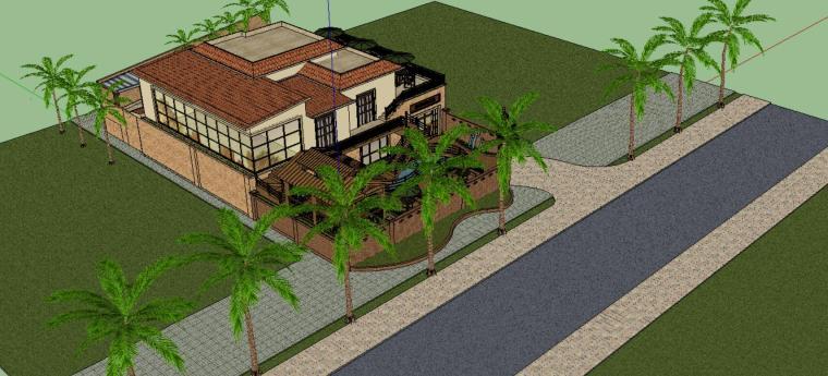 别墅景观设计模型-场景三