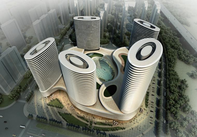 [陕西]西安曲江海鲜城现代塔楼群城市综合体优化方案文本(PDF)