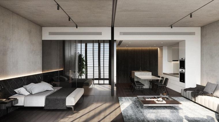 高级灰单身公寓装修设计方案
