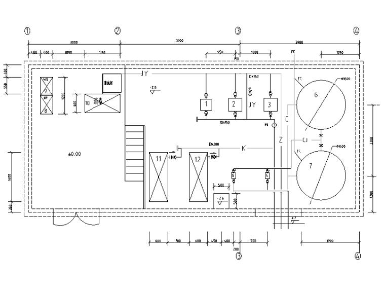 河北某大学中水工程全套施工图(CAD)