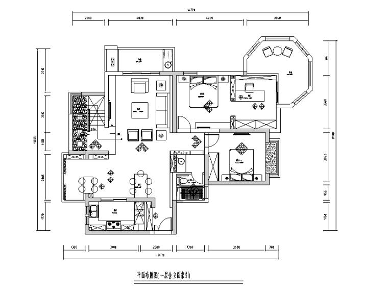 [上海]新中式风250平米复式带阁楼别墅设计施工图(附效果图)