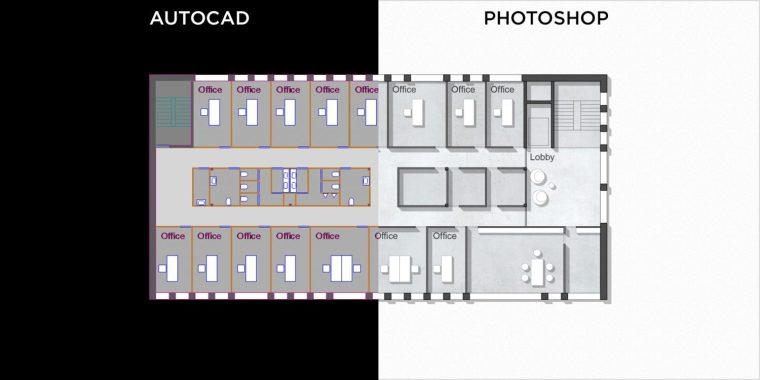 """原文标题为""""用photoshop绘制一张autocad平面图""""武汉机械设计师找工作图片"""