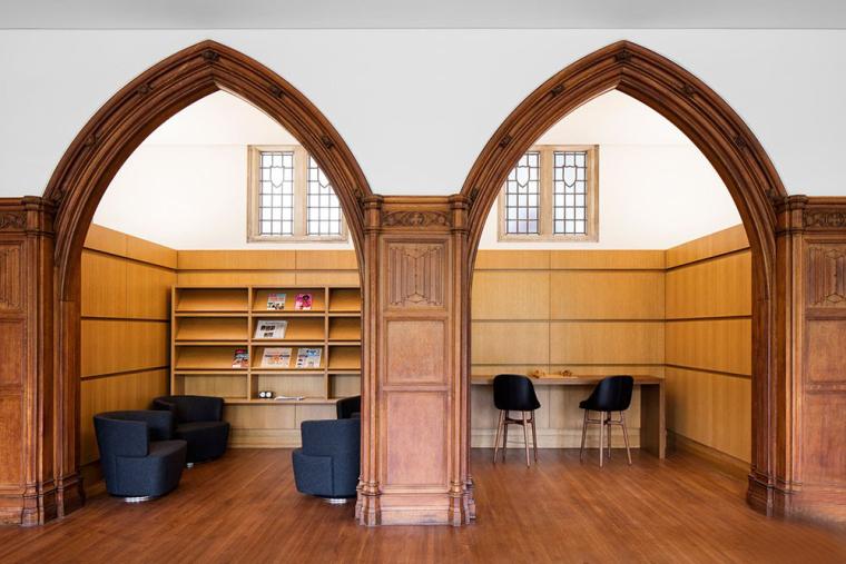 哥特式学术建筑普林斯顿大学校园内部实景图 (8)