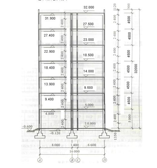 多层框架结构大学宿舍课程设计计算书(word,44页)_2