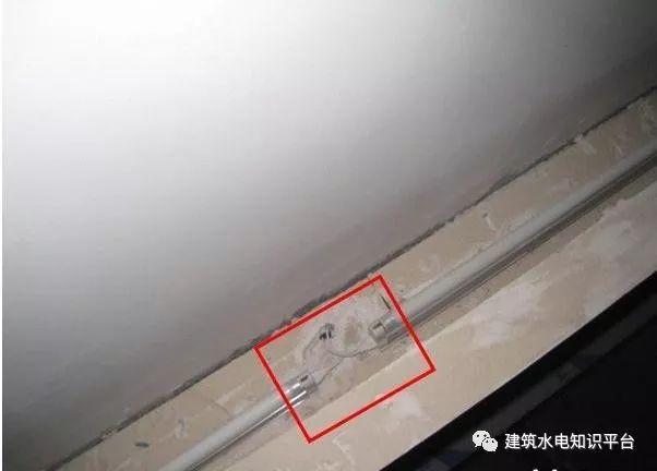 建筑电气工程施工质量通病和解决方法(现场施工图片解说)_15