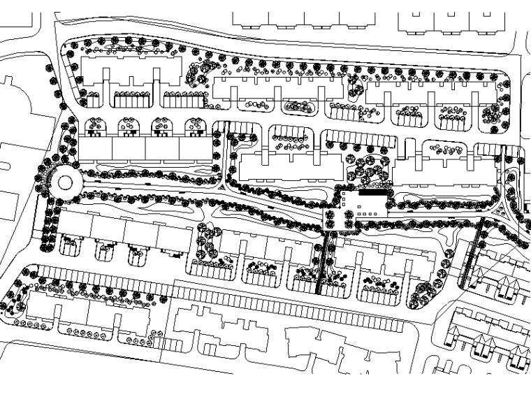 [北京]宜山居居住小区住宅区景观方案施工图