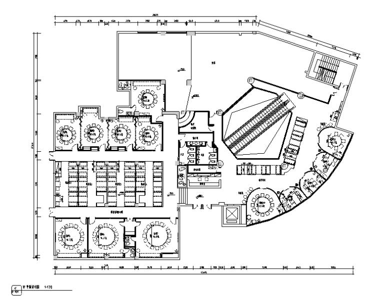 [新疆]混合风格马仕玖煲餐饮空间设计施工图(附效果图)