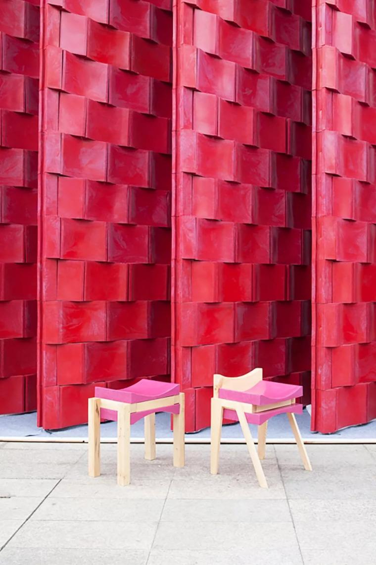 曼谷设计周展亭,再利用材料可变身包包和椅子/Cloud-floor_8