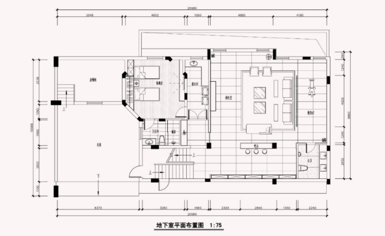 [广东]林总中式别墅住宅效果图及施工图
