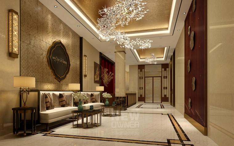 大堂-甘孜州道孚藏文化酒店设计第1张图片