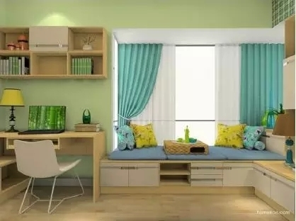 卧室惊艳地变了样还多了小资地儿,阳台飘窗改造术_7