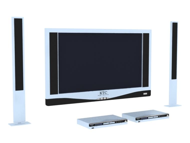 液晶电视3D模型下载-液晶电视