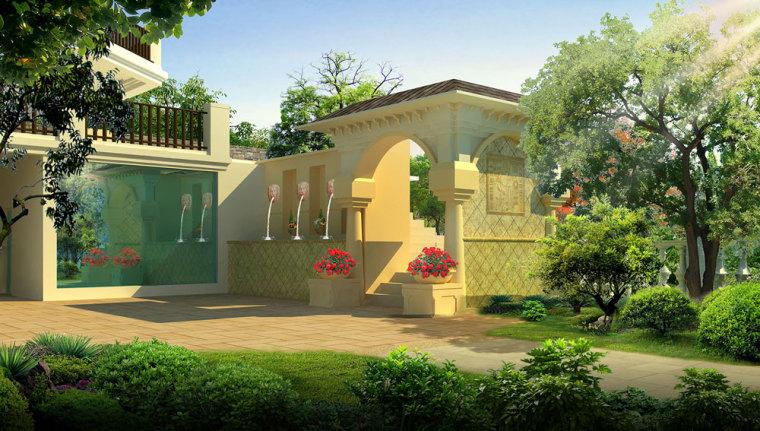 重庆冠领园林私家花园庭院设计:保利花园_7