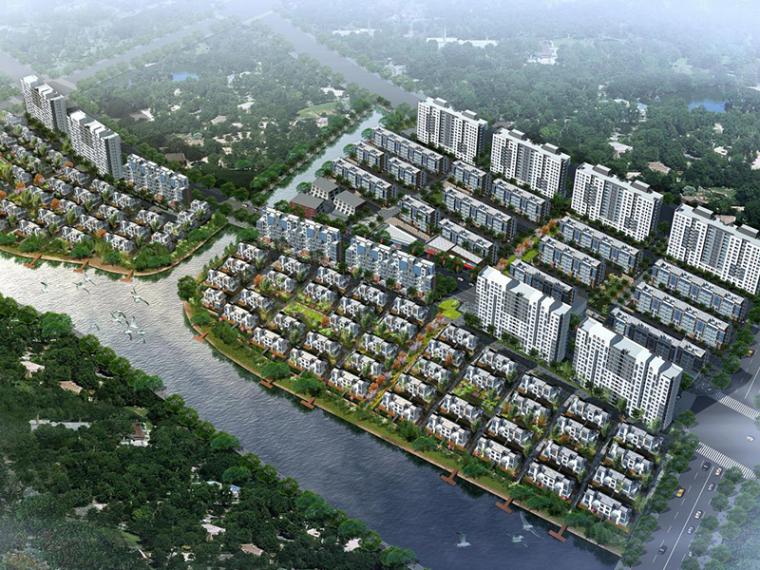 [上海]金地湾居住小区修规建筑设计方案文本