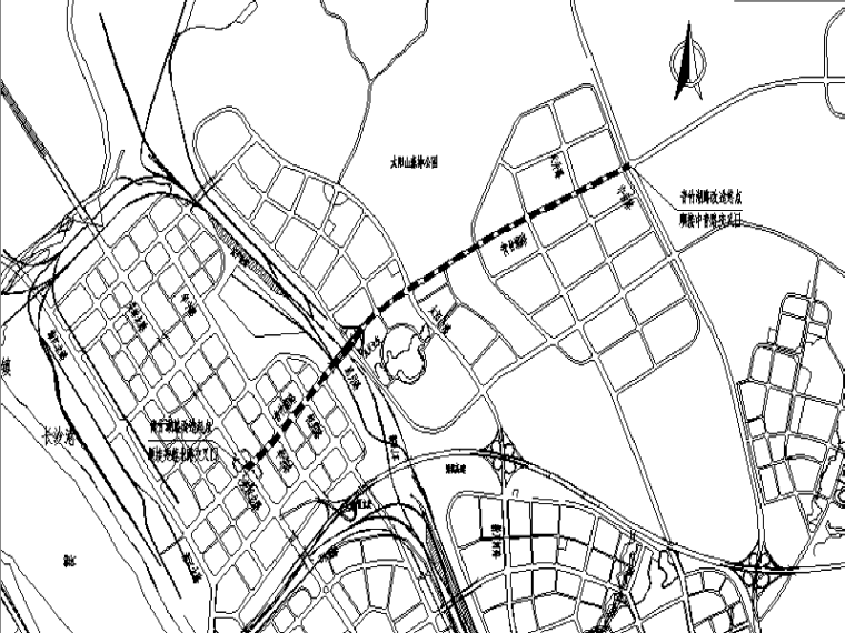 [长沙]城市道路提质改造工程施工图纸(道路/排水/交通)