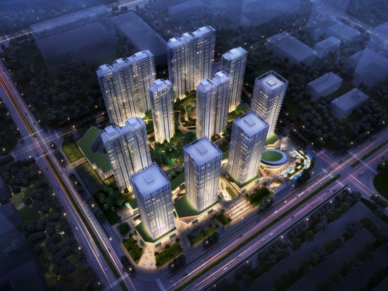 [浙江]杭州保利滨江现代高层+商业模型设计(2018年)