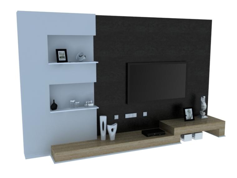 简约时尚背景墙3D模型下载