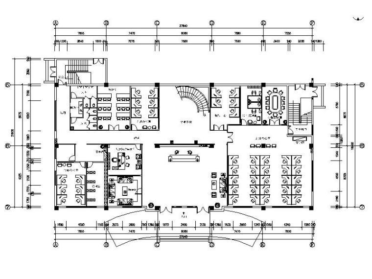 [江苏]某现代简约科技公司办公楼室内设计施工图_1