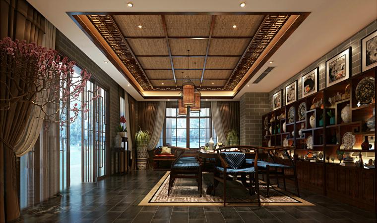 华丽中式会客厅3D模型