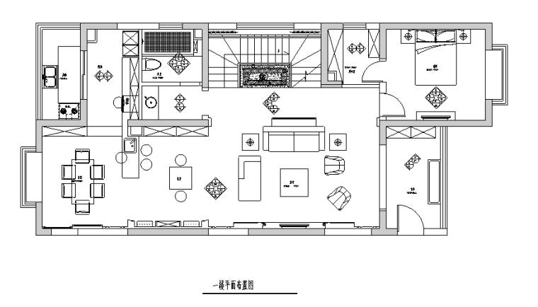 [山西]现代风格200平米跃层公寓别墅设计施工图(附效果图)