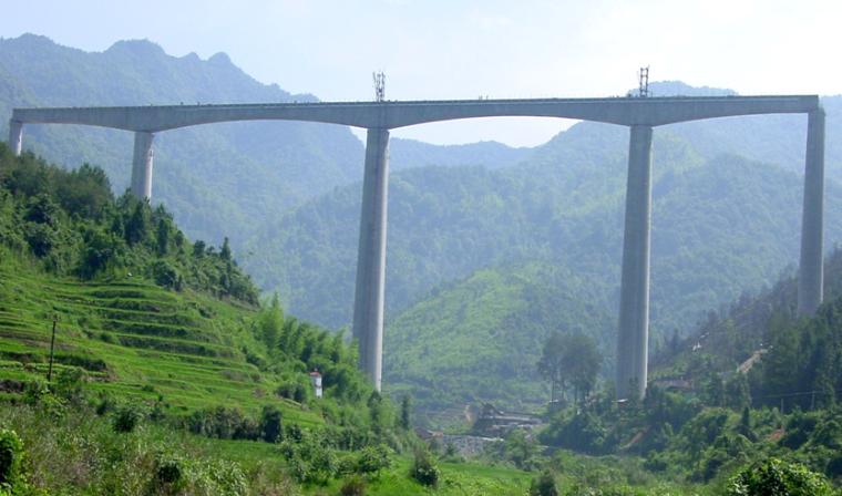 Ⅰ级单线内燃铁路变截面圆形空心高墩爬模施工技术PPT