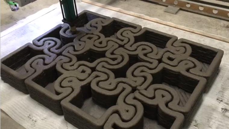 黑科技,3D打印建筑视频,您从没见过的拼接花墙