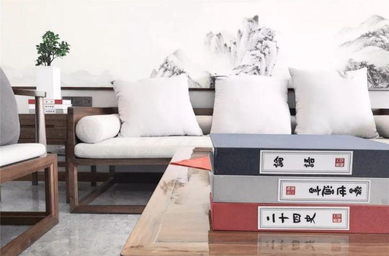新中式徽派元素山水画为轴线的家装设计_7