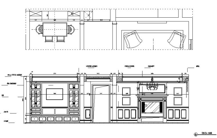 美式风格山湖间别墅设计施工图(附效果图)_3