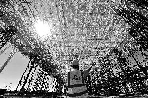 北京新机场亚洲最大机库封顶