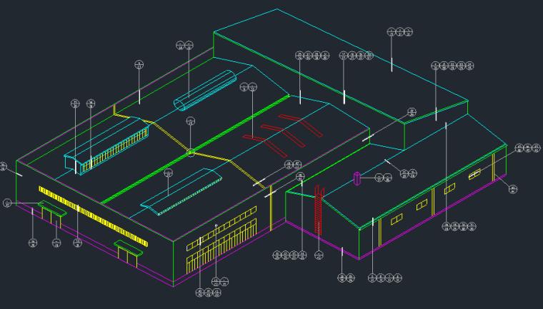钢结构厂房各部分彩连件标准详图_1