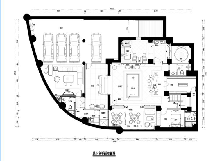 欧式大洋鹭洲别墅家装设计施工图及效果图