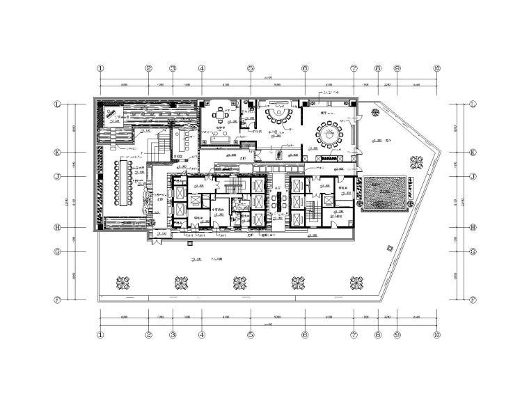 新中式茶楼室内装修概念方案施工图(附效果图)