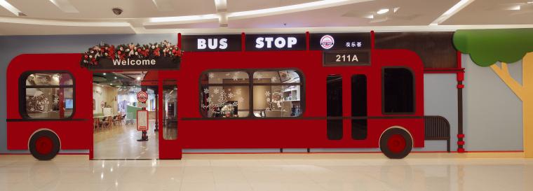 BUS-STOP儿童乐园主题餐厅设计效果图+概念阐述